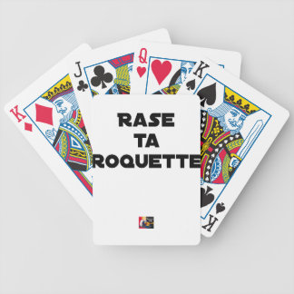 SHAVE MT ROCKET - Word games - François Ville Bicycle Playing Cards