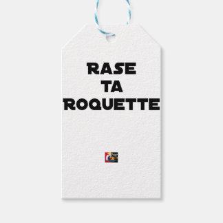 SHAVE MT ROCKET - Word games - François Ville Gift Tags