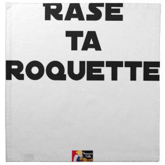 SHAVE MT ROCKET - Word games - François Ville Napkin