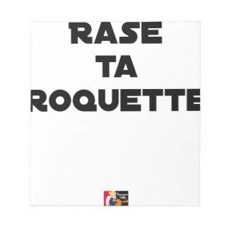SHAVE MT ROCKET - Word games - François Ville Notepad