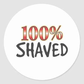 Shaved 100 Percent Stickers