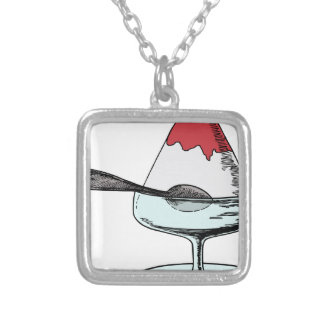 Shaved Ice Silver Plated Necklace