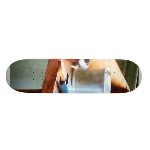 Shaving Mug, Razor and Brushes Skateboard