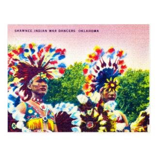 Shawnee Indian War Dancers, Oklahoma Postcard