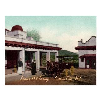 Shaws Hot Springs Postcard