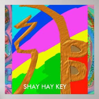 SHAYHAYKEY Gold  - basic Reiki Symbol Poster