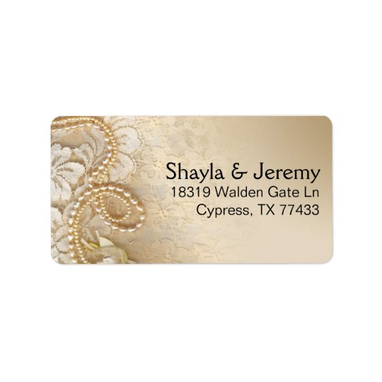 Shayla Pearls and Lace Mailing | eggshell