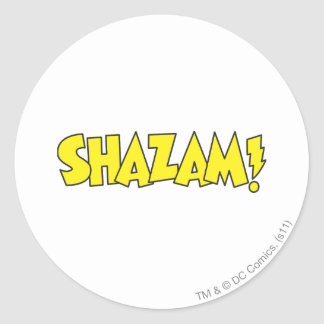 Shazam Logo Yellow Classic Round Sticker