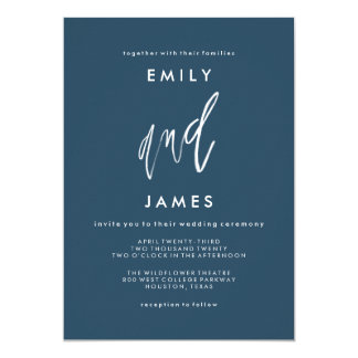 She and Him | Custom Colour Wedding Invitation