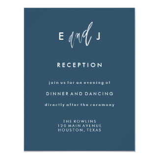 She and Him | Wedding Reception Card