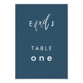 She and Him | Wedding Table Number Card