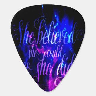 She Believed in Amethyst Dreams Guitar Pick