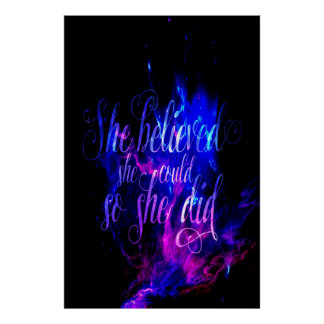 She Believed in Amethyst Dreams Poster