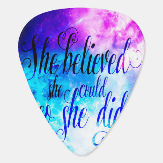 She Believed in Creation's Heaven Guitar Pick