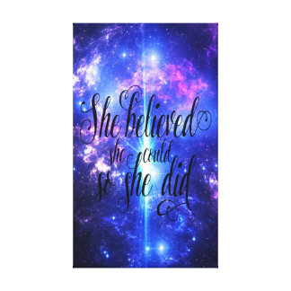 She Believed in Iridescent Skies Canvas Print