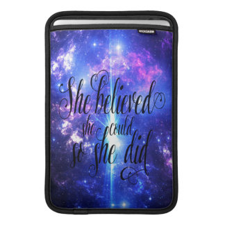 She Believed in Iridescent Skies Sleeve For MacBook Air