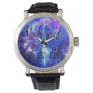 She Believed in Iridescent Skies Watch