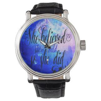 She Believed in Starry Nights Watch