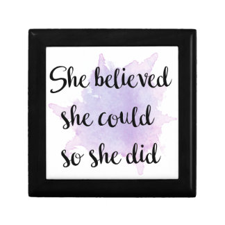 She Believed She Could Gift Box
