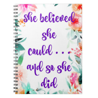 """She believed she could"" Journal / Art Journal"