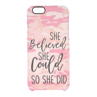 She Believed She Could So She Did Christian Athlet Clear iPhone 6/6S Case