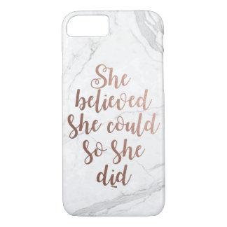 """She Believed She Could So She Did"" Rose Gold Case-Mate iPhone Case"