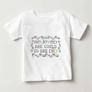 """""""she believed she could so she did"""" shirt"""