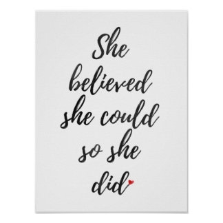 She Believed She Could So She Did, Wall Art