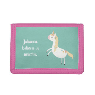 She believes in unicorns, wallet with name