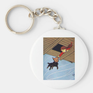 She Caught Toto By The Ear Basic Round Button Keychain