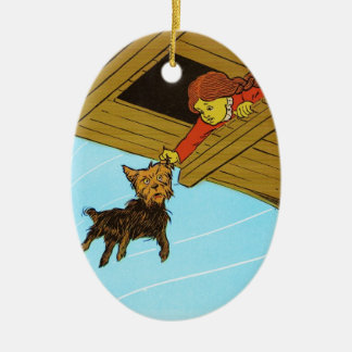She Caught Toto By The Ear Ceramic Ornament