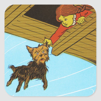 She Caught Toto By The Ear Square Sticker