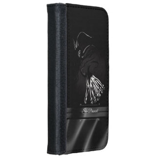 She Danced Black Silk Art iPhone 6 Wallet Case