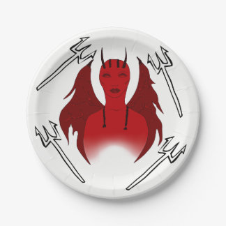 SHE DEVIL/DEMON PARTY PLATE 7 INCH PAPER PLATE