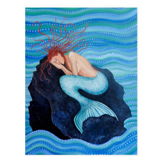 She Dreams Sea Dreams Mermaid Postcard