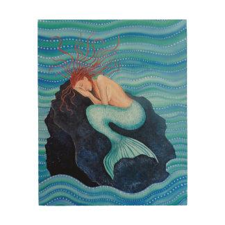 She Dreams Sea Dreams Mermaid Wood Wall Art