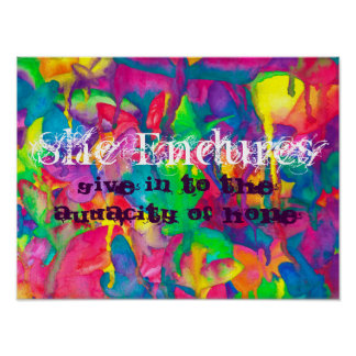 She Endures Wall Decal Poster
