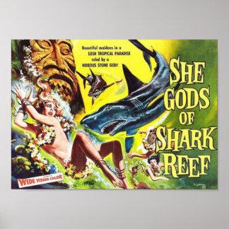 She Gods of Shark Reef Poster