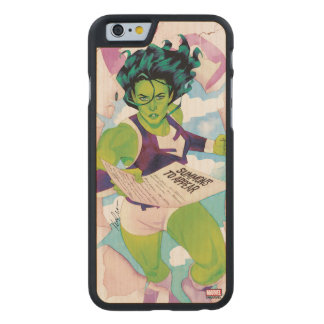 She-Hulk Delivering Summons Carved Maple iPhone 6 Case