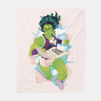 She-Hulk Delivering Summons Fleece Blanket