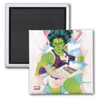 She-Hulk Delivering Summons Magnet