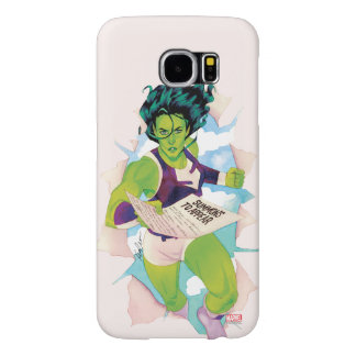 She-Hulk Delivering Summons Samsung Galaxy S6 Cases