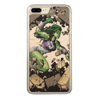 She-Hulk Smashing Through Blocks Carved iPhone 8 Plus/7 Plus Case