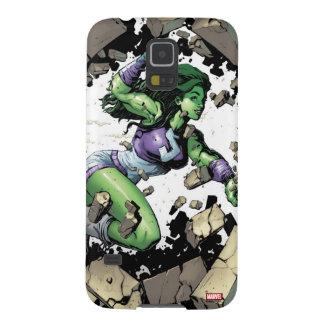 She-Hulk Smashing Through Blocks Galaxy S5 Case