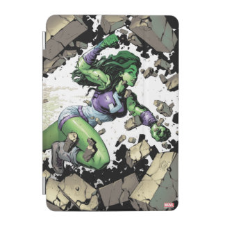 She-Hulk Smashing Through Blocks iPad Mini Cover