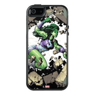She-Hulk Smashing Through Blocks OtterBox iPhone 5/5s/SE Case