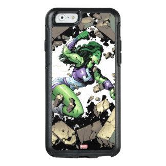 She-Hulk Smashing Through Blocks OtterBox iPhone 6/6s Case