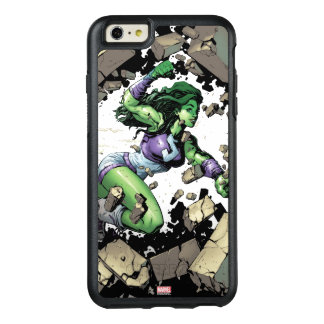 She-Hulk Smashing Through Blocks OtterBox iPhone 6/6s Plus Case