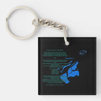 She is Cancer keychain