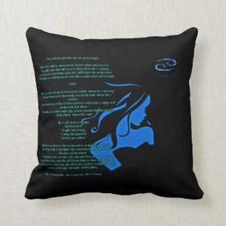 She is Cancer throw pillow